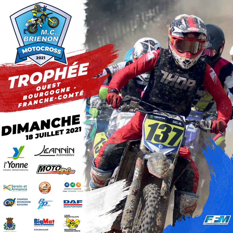 Moto Club Brienon - Motocross Championnat Bourgogne Franche-Comté Trophée Ouest 2021