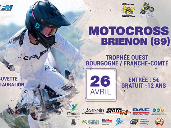 Affiche et date du MotoCross Trophée OUEST Bourgogne France Comté 2020