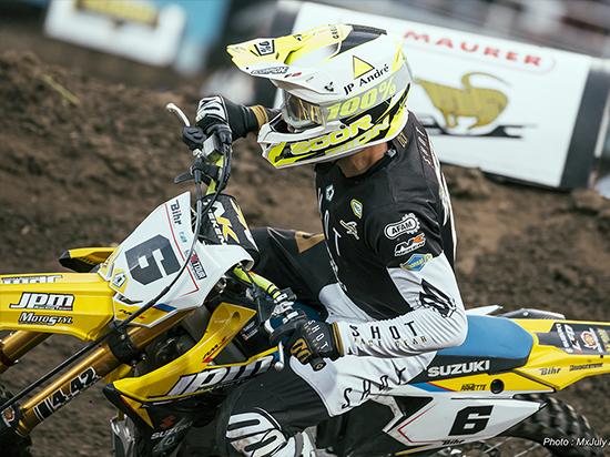 Thomas Ramette - Top 5 pour le retour à la compétition à Brienon lors du Supercross de l'Yonne