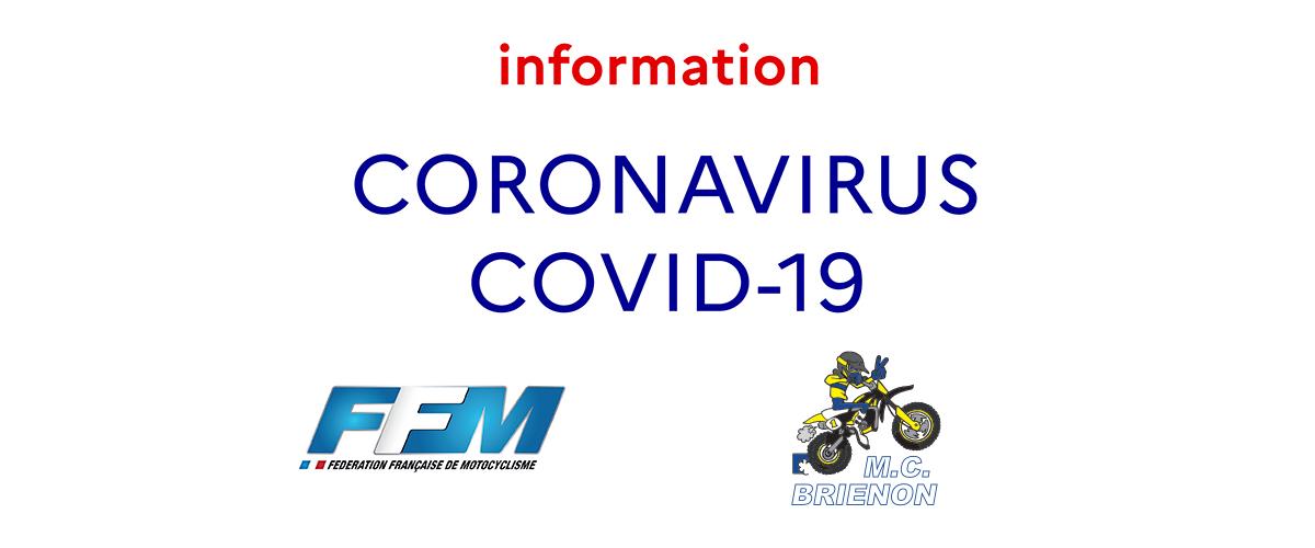 COVID19 - Annulation des épreuves motocyclistes et fermeture du terrain des morillons