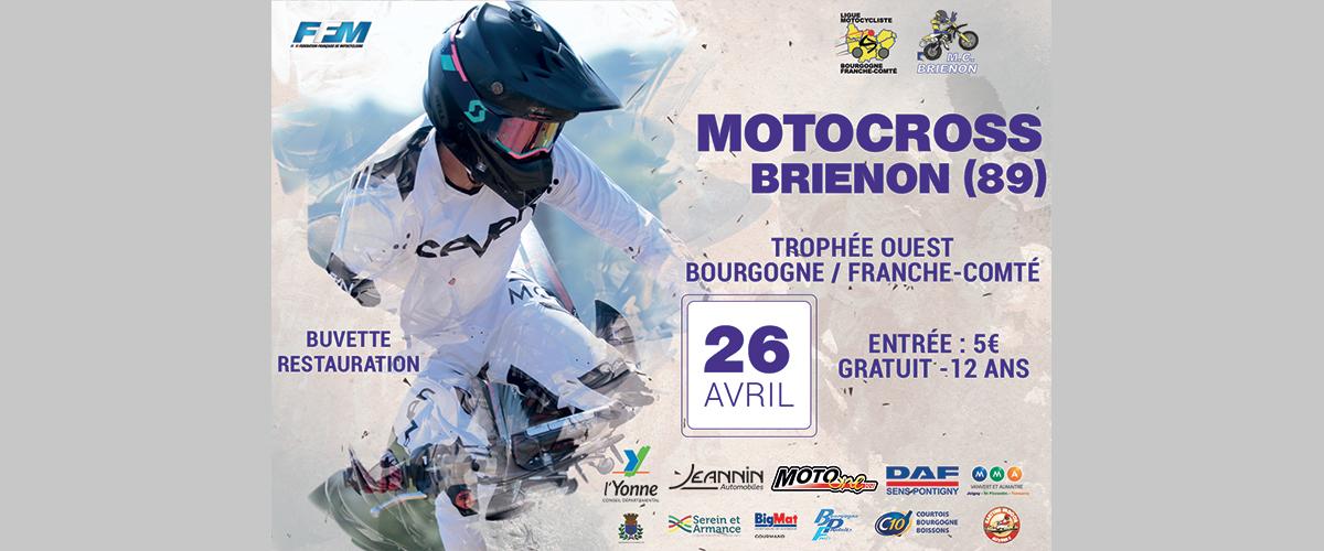 Affiche et date du MotoCross 2020 - Trophée Bourgogne Franche Comté Ouest