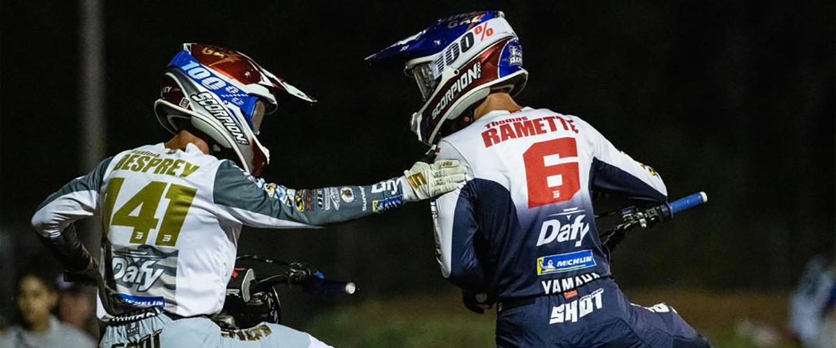 Thomas Ramette - Podium de Thomas Ramette lors de la reprise du supercross en France 2021